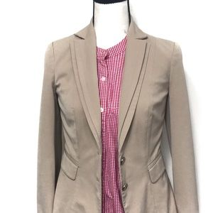 White House Black Market Tan Khaki Stretch Blazer